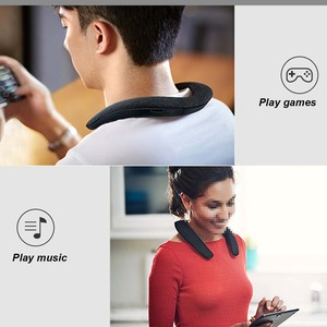 Image 5 - JINSERTA 5D Stereo Wireless Bluetooth Speaker Waterproof Wearable Ring Necking Sport Neck Hanging Microphone Bluetooth Audio