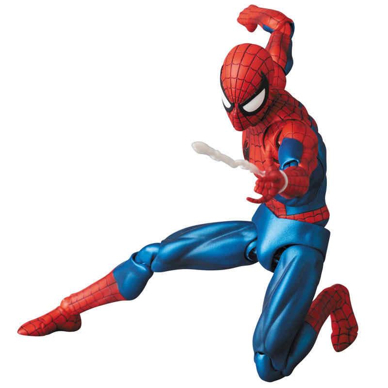 Vingadores 4 endgame spiderman mafex 075 o incrível homem aranha figura de ação modelo brinquedos boneca presente para crianças