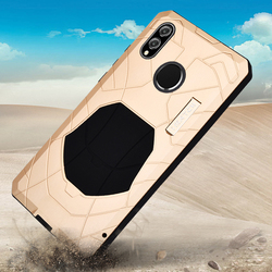 Oryginalny IMATCH codziennie wodoodporny etui na Huawei Honor 8x luksusowe metalowe pokrywa silikonowa dla Huawei Honor 8X etui ochronne na telefon