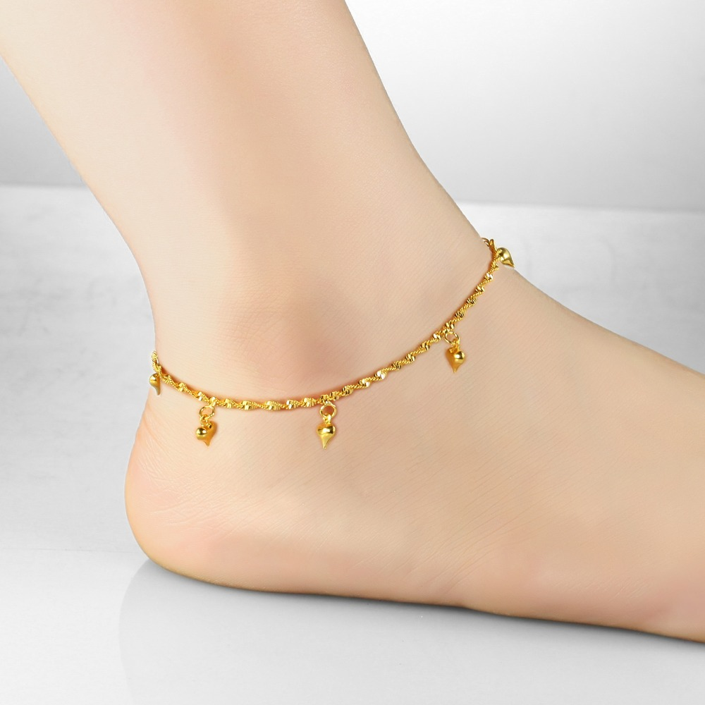 Anklet foot jewelry heart anklet bracelet leg chain fashion gold ...