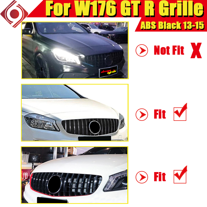 W176 GT R grille grill A Class A45 look glossy black A180 A200 A250 A45 grills without sign For pre facelift models to 09 2015 in Racing Grills from Automobiles Motorcycles
