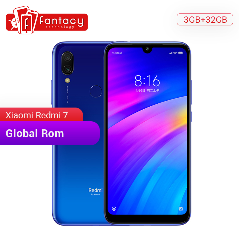Global Rom Xiaomi Redmi 7 3GB RAM 32GB ROM Snapdragon 632 Octa Core 12MP Dual Camera 6.26