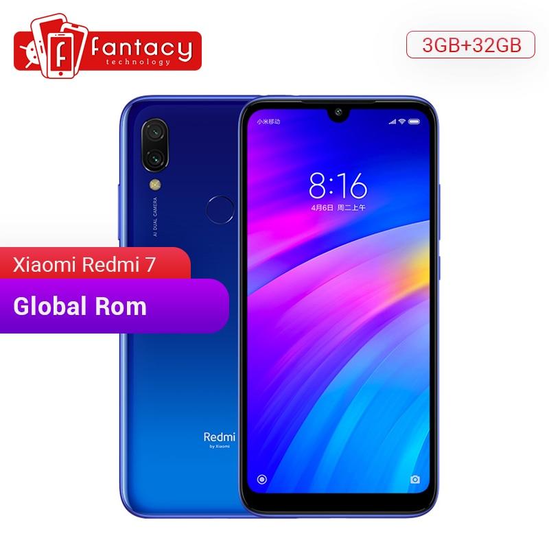 "Global Rom Xiaomi Redmi 7 3GB RAM 32GB ROM Snapdragon 632 Octa Core 12MP Dual Camera 6.26"" HD Mobile Phone 4000mAh Large Battery"