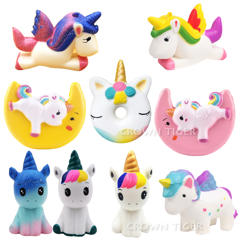 jumbo kawaii squishy slow rising unicorn donut soft colorful. squishy animal big squishy squeeze fun antistress toy for children funny cute mini cartoon tpr animal jumbo squishy toy