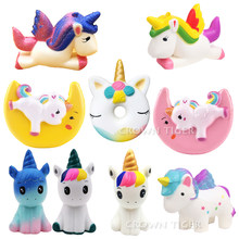 jumbo kawaii squishy slow rising unicorn donut soft colorful. squishy animal big squishy squeeze fun antistress toy for children(China)