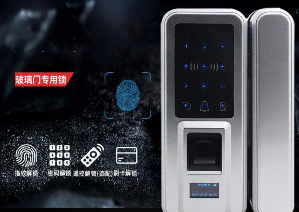 Serrure d'empreinte digitale électrique sans clé de bureau de serrure de porte en verre avec le clavier tactile serrure de porte de carte à puce