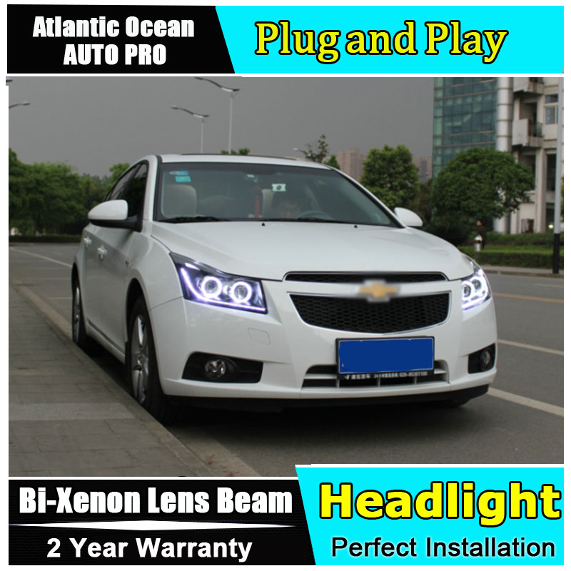 AUTO.PRO 2009-2014 For Chevrolet cruze led headlights+LED DRL+angel eyes head lamps car styling bi xenon lens parking lights