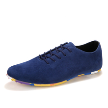 Nice New Men Fashion Casual Shoes Suede lace-up Casual Flat Sheos For Men Breathable Slip Men Shoes Zapatos