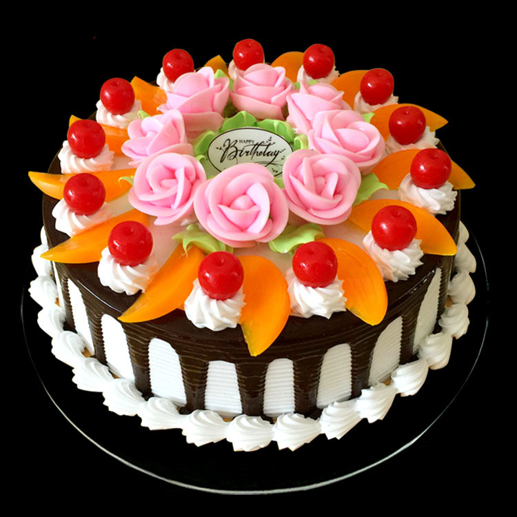 15cm Diameter Simulation Cake Fruit Cream Birthday Model European Flowers Decoration In Decorating Supplies From Home Garden On