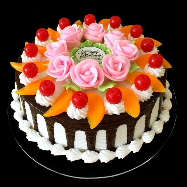 Online Shop 15cm Diameter Simulation Cake Fruit Cream Birthday Cake