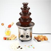 4 Tiers 46cm Fantanstic Stainless Steel Chocolate Fountain Machine 220V Fondue Event Exhibition Wedding Birthday Party