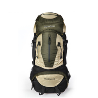 Outdoor Camping Climbing Backpack Bag 60L Travel Hiking Trekking Backpacking Bag With Waterproof Rain Cover Backpack