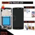 Для LG Google Nexus 5 D820 D821 Black ЖК-Дисплей С Сенсорным Экраном Дигитайзер Ассамблеи Рамка Рамка с Инструментами и Кино