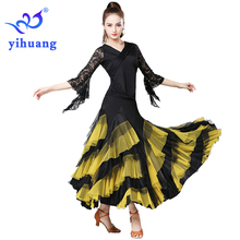 2019 New Waltz Ballroom Dance Costumes Suit Tango Modern Standard Foxtrot Quickstep Performance Wear Party Blouses Skirt