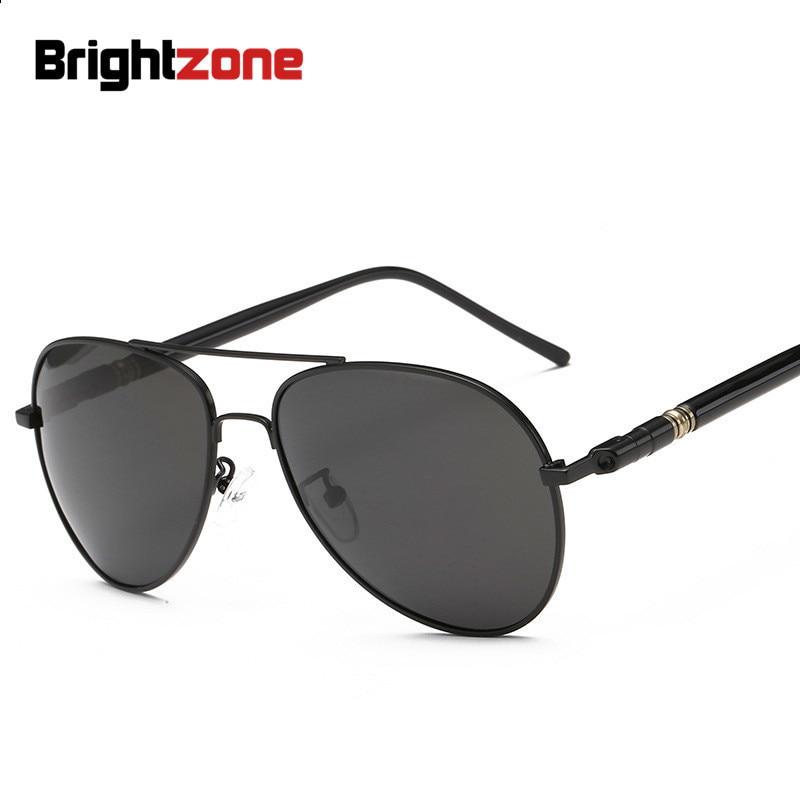 Brightzone 2018 Flying-Pilot Premium Polarized Light Men Gray Brown Sunglasses Gafas De Sol Mujer Sun Glasses Lunette Occhiali