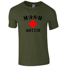 M*A*S*H + 4077th T-Shirt - USA ARMY Retro Mash TV Series Unisex Mens Gift Top Print T Shirt Short Sleevefree shipping