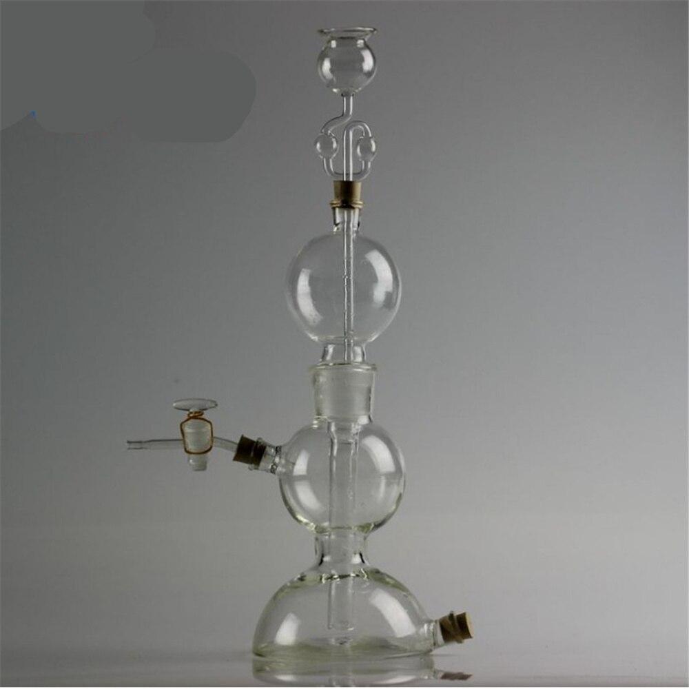 250 ml appareil Kipp; dispositif de production de verre d'hydrogène; fournitures de laboratoire de dispositif de production de gaz