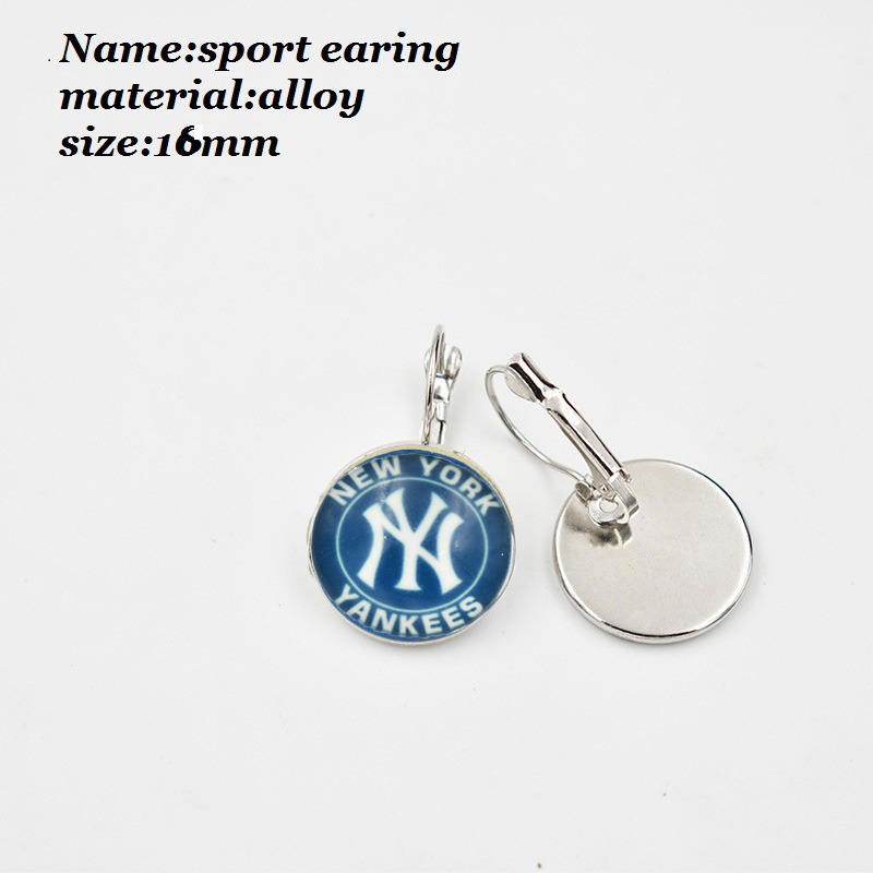10 PCS Latest NY Yankees Baseball Team Earring Dangle Shoe buckle Necklace Ring Series Jewelry Jewelry 10 PCS