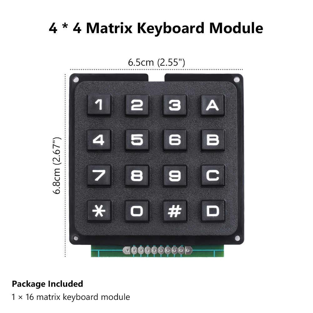 TSLEEN 3x4 4x4 Matrix Array 12 16 Keys Switch Keypad Keyboard Program  Signal Control Module for Arduino