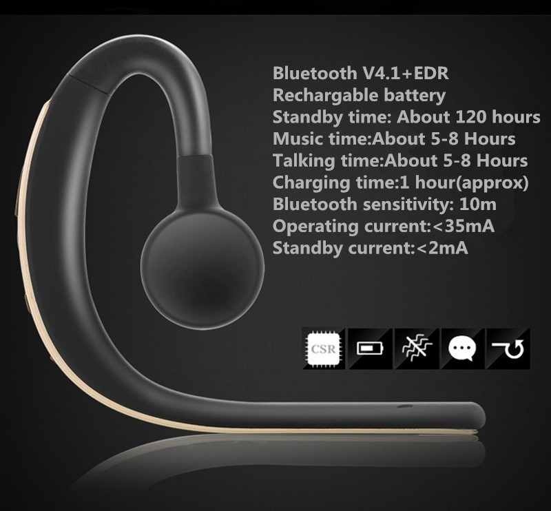 Voice control Bluetooth headset Noise cancelling isolation wireless earphone with microphone handsfree sports music headphone (9)