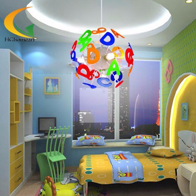 Simple Led Modern Lighting Kids Bedroom Pendant Light Children Home Cartoon Boy Room