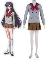 Free Shipping Sailor Moon Crystal Sailor Mars Hino Rei Winter School Uniform Anime Cosplay Costume