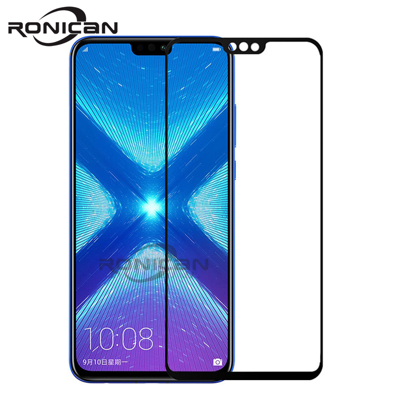 Huawei Honor 8X Tempered Glass Original RONICAN Full Cover Screen Protector for huawei honor 8x Glass Tempered Protective Film 1