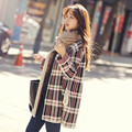 2016 New Fashion Striped Casual Loose Sweater Coat Knitting Long Cardigan Outwear Loose Long Cape Coat Knit  Sweaters C175