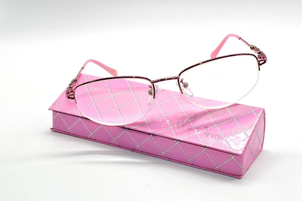 [READING GLASSES WITH CASE ]2016 NEW Titanium ALLOY SUPER LIGHT PINK MULTILAYER COATED LENS LADIES WOMEN  +1+1.5+2+2.5+3+3.5+4