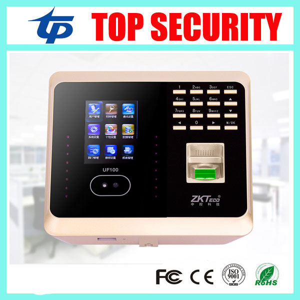 Good quality ZK biometric face and fingerprint time attendance TCP/IP WIFI face time clock with keypad employee time attendance hot selling 3 high speed good quality 30000 user capacity color screen time attendance time clock m200 with tcp ip rj45