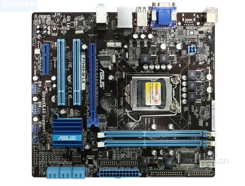 Free shipping original motherboard for P7H55-M LX LGA 1156 DDR3 support I3 I5 I7 H55 Desktop motherboard free shipping tested well motherboard ga h55 ud3h lga 1156 ddr3 h55 ud3h 16gb
