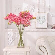 Klonca Luxury Natural 78cm 1pc 3D Print Artificial Flower Fake Flower Cymbidium Home Wedding Decoration