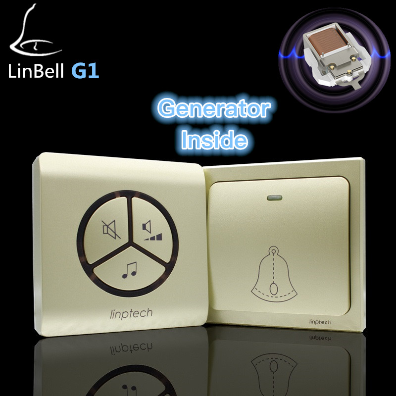 Linptech G1 No battery wireless doorbell 3 receivers, 2 doorbell buttons 3 doorbell receivers no need battery wireless door bell литой диск yamato saito no mokinato 7x17 5x114 3 d60 1 et35 mgmfp