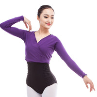 2017 Woman Ballet Gymnastic Leotard Jacket Long Sleeved Dance Sweater Top Coat Kids Dance Clothing Jacket