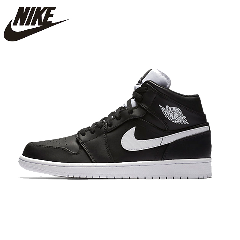 ce0ba5140b6 NIKE AIR JORDAN 1 MID AJ1 Original Mens Basketball Shoes Breathable  Stability Comfortable Support Sports Sneakers For Men Shoes-in Basketball  Shoes from ...