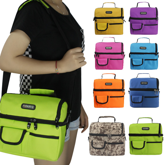 63741a32e5dd78 Large Thicken Folding Fresh Keep Waterproof Oxford Cloth Cooler Lunch Bag  Thermal Insulation Pack For Steak Ice 88 Popul