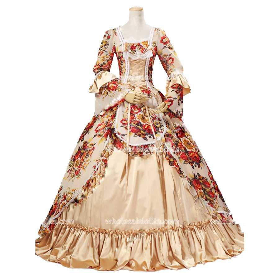 Nejprodávanější rokokový styl Ročník 18. století Marie Antoinetta šaty Princezna Šaty Plesové šaty