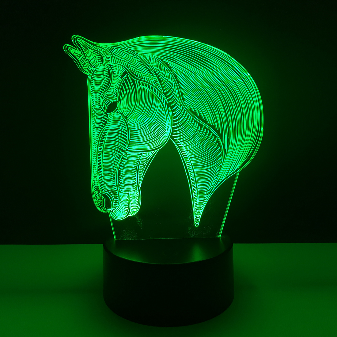 USB Novelty Gifts 7 Colors Changing Animal Horse LED Night light 3D Desk Table Lamp USB touch Baby Kid Sleeping Home Decoration