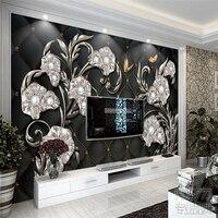 Beibehang bloemen zachte tas TV achtergrond foto behang 3d schilderen TV bank achtergrond woonkamer slaapkamer grote muur papier