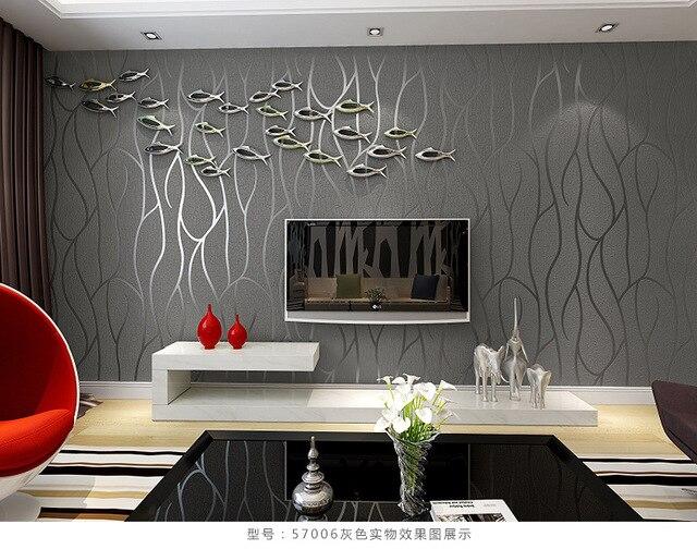US $32.0 |Heißer verkauf 3d mural tapete moderne gestreiften herde tapeten  papel de parede tapete schlafzimmer grau, beige, kaffee 53x1000 cm in ...