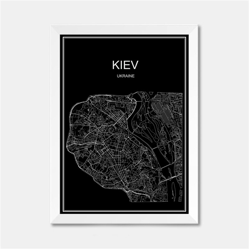 Madrid Spain CITY World map poster abstract vintage paper print ...
