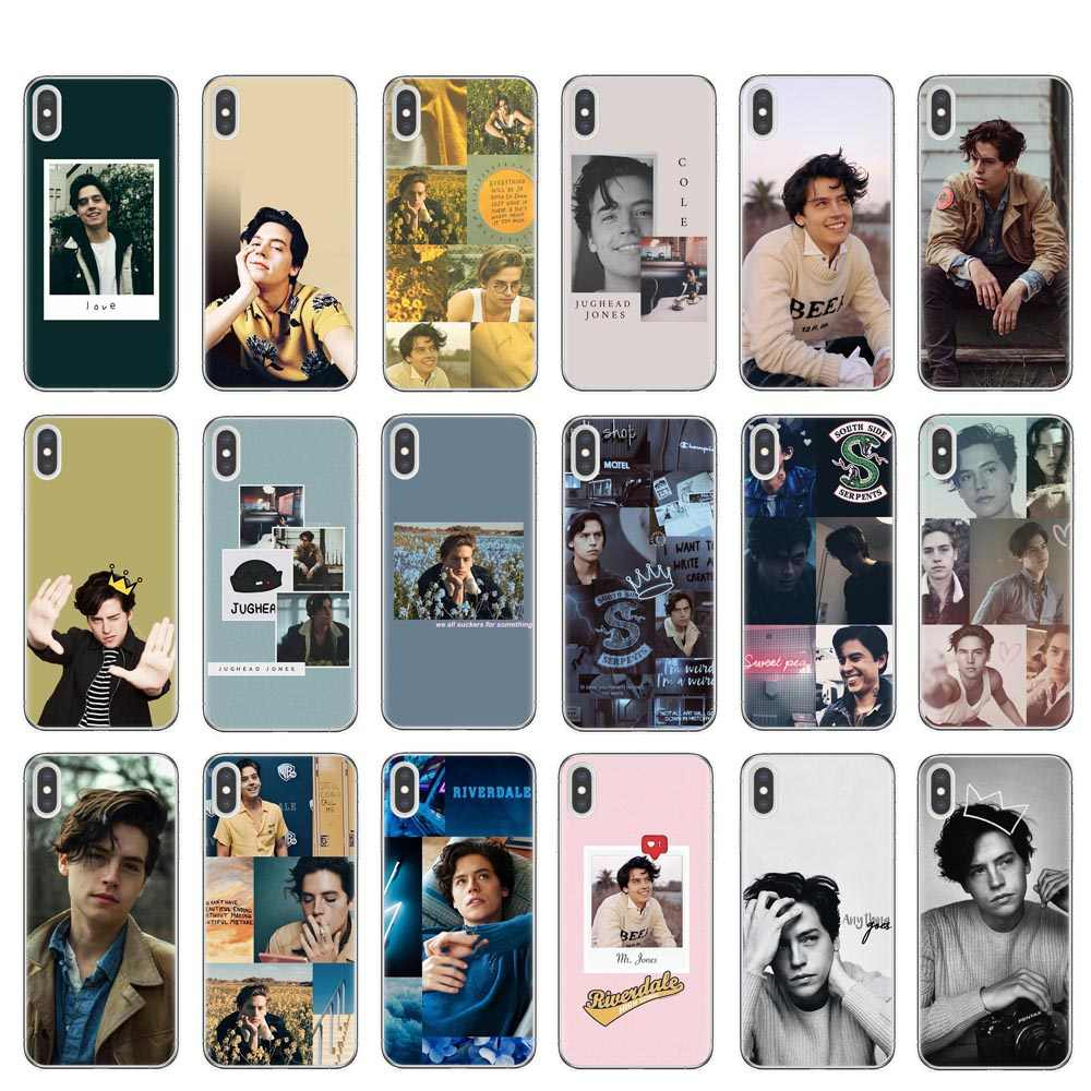 American TV Riverdale Series Cole Sprouse Design Phone Case for iPhone 8 7 6 6S Plus 5 5S SE XR X XS MAX 10 Coque Shell Cover