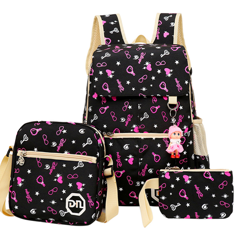3pcs/set Women backpacks Lightweight fashion school bags girls waterproof canvas children orthopedic school bag Kids Backpack ...
