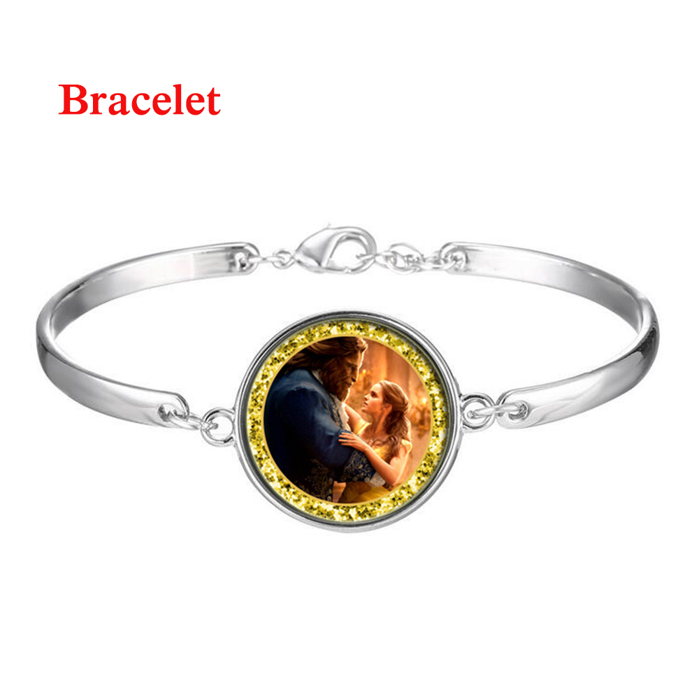 2018 New Beauty and the Beast movie bracelet anime cosplay accessary