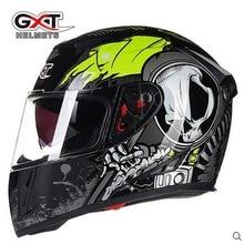 NEW Genuine High Quality GXT full face helmets winter warm double visor motorcycle helmet Casco Motorbike capacete