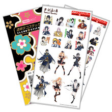 Touken Ranbu Sticker Anime Stickers Waterproof Plastic Transparent Decal Toy Stiker For Phone Laptop Book