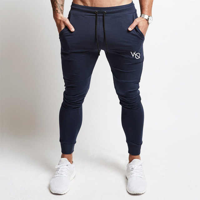 05df5a45 ... 2019 Vanquish Fitness Men Sportswear Tracksuit Bottoms Skinny  Sweatpants Trousers Black Gyms Jogger Track Joggers Casual