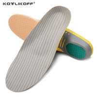 Orthopedic PVC Lightweight Arch Supports Sports Insoles Breathable Deodorant Cushion For Men Women Shoes Insoles Orthotic