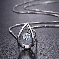 LOZRUNVE S925 reinem silber geist tropft kristall anhänger schlüsselbein halsketten Halskette Schmuck micro handels Taobao burst