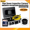 "Free shipping!20M Sewer Waterproof Camera 7"" LCD Drain Pipe Pipeline Inspection System with DVR"